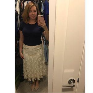 ❄️ 3/$20 ❄️ Lace Cream Skirt Vintage Sz 4-6!